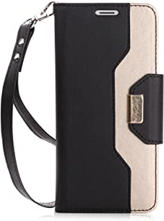 ProCase Galaxy S9 Plus Wallet Case, Flip Kickstand Case with Card Slots Mirror Wristlet, Folding Stand Protective Cover fo...
