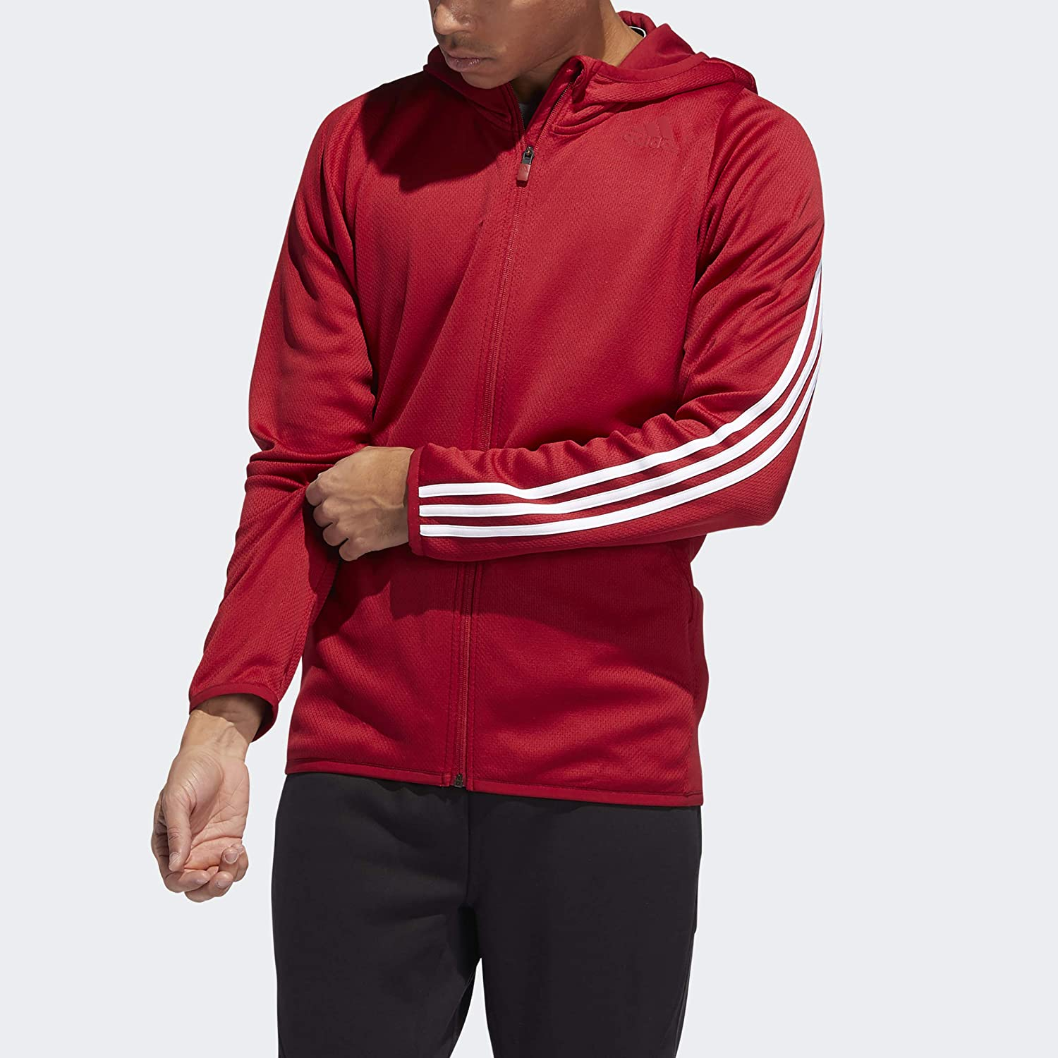 adidas Men's Factory outlet Daily Factory outlet Hooded 3-Stripes Sweatshirt