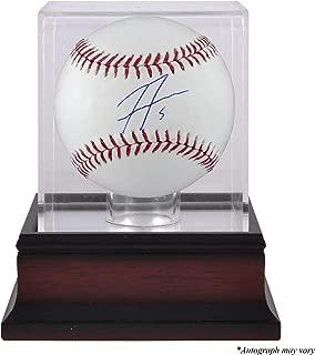 Freddie Freeman Atlanta Braves Autographed Baseball and Mahogany Baseball Display Case - Fanatics Authentic Certified