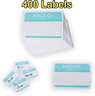 "Name Badge Labels, Plain Name Tag Labels, Name Badges Self-Adhesive. 400 Stickers, 3.5"" x 2.5""."
