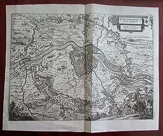 Maastricht Netherlands Nederland 1655 Merian battle city plan map