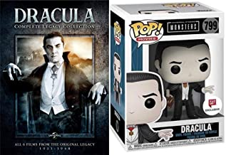 Monster Archive Dracula Original 6-Movie Collection - Daughter / Son of / House of Frankenstein / Dracula / Abbot Costello Meet Universal Documentary DVD Legacy + Exclusive Funko Pop! Figure Pack