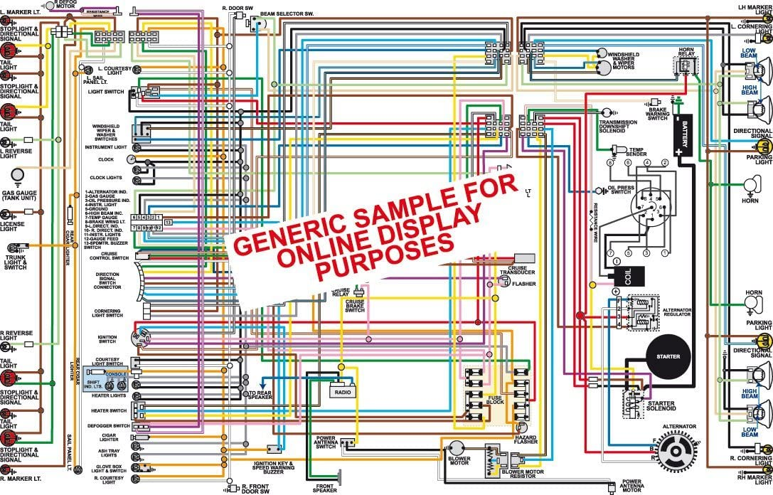 amazon.com: full color laminated wiring diagram fits 1956 ford thunderbird  large 11