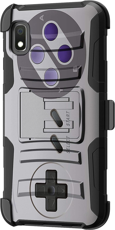 TurtleArmor   Compatible with Samsung Galaxy A10e Case   Galaxy A20e Case [Hyper Shock] Hybrid Dual Layer Armor Holster Belt Clip Case Kickstand - Classic Game Controller