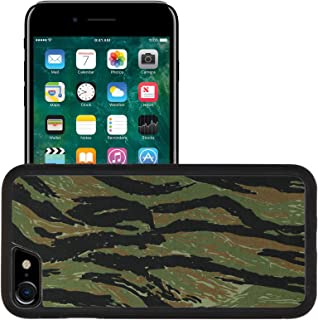 Liili Apple iPhone 7 iPhone 8 Aluminum Backplate Bumper Snap iphone7/8 Case iPhone6 IMAGE ID: 20126844 US vietnam green tigerstripe camouflage fabric texture background