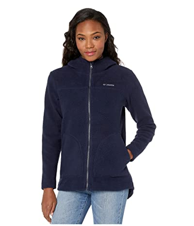 Columbia Canyon Pointtm Hooded Sherpa Full Zip (Dark Nocturnal) Women