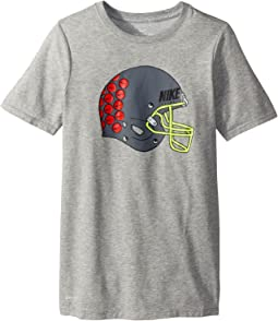 Nike Kids Dry Helmet Stickers Tee (Little Kids/Big Kids)
