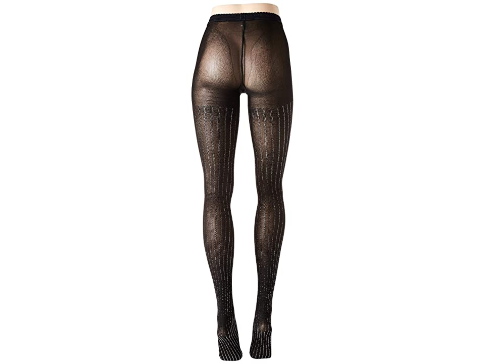 Wolford Sparkle Stripe Tights (Black/Silver) Hose