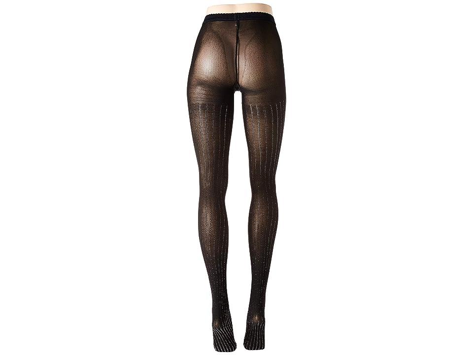 Wolford Sparkle Stripe Tights (Black/Silver) Hose