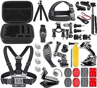 TECHNA Kit de Accesorios para Cámara de Acción GoPro Hero 1 2 3 3+ 4 5 6 7 8 SJ4000 5000 6000 DBPOWER AKASO VicTsing APEMA...