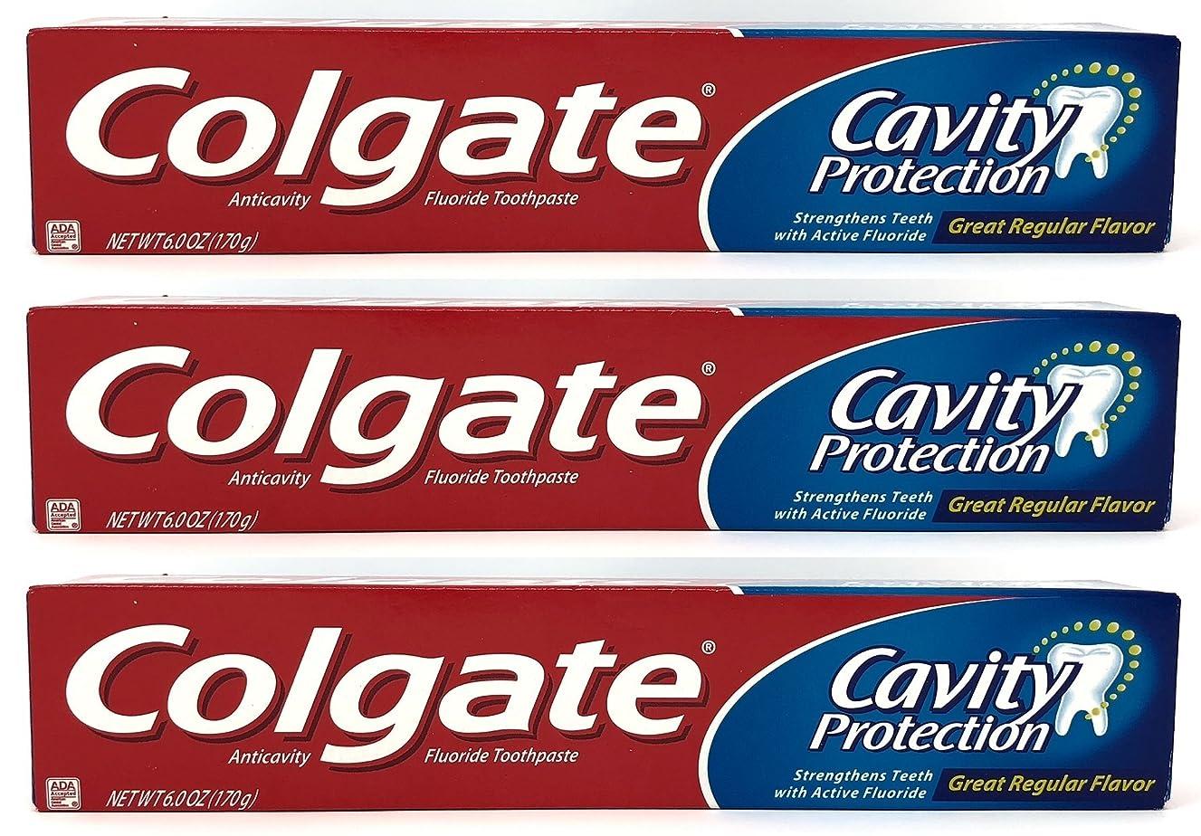 大胆不敵浮浪者バイオリンColgate 空洞保護フッ化物の歯磨き粉、定期的なフレーバー、6.0オズ(3パック)