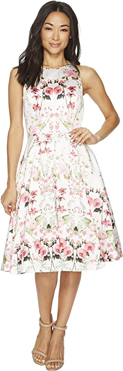 Tahari by ASL - Floral Fit-and-Flare Dress
