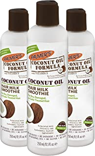 Palmer's Coconut Oil Formula Milk Smoothie for Dry, Damaged or Color Treated Hair, 8.5 Fl. Oz. (Pack of 3)