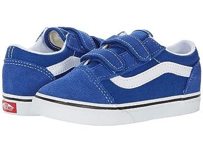 Vans Kids Old Skool V (Infant/Toddler) (Limoges/True White) Boys Shoes