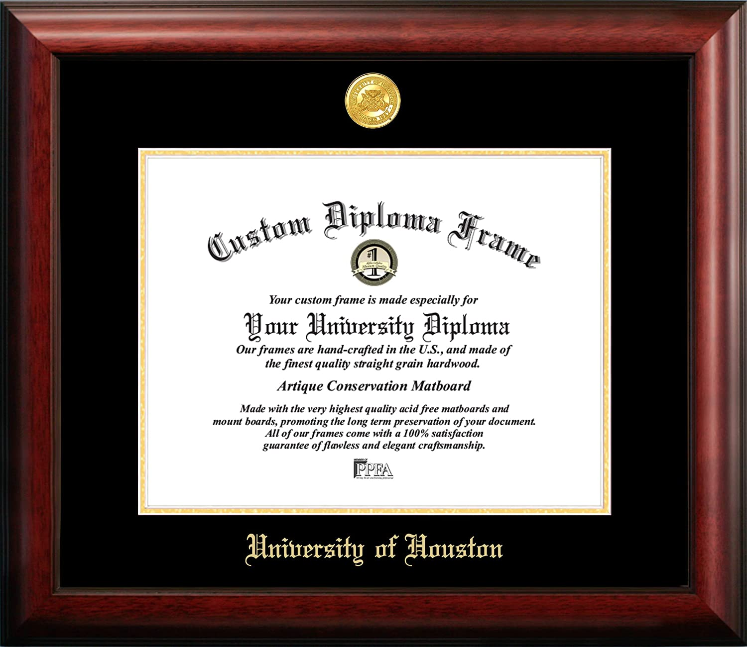 Campus Images Outlet ☆ Free Shipping TX954GED University New Free Shipping of Houston Fr Embossed Diploma