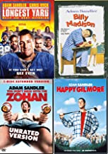 Oh Adam! Happy Madison Mega Pack Longest Yard Sandler + Billy Madison/ Happy Gilmore & Don't Mess with Zohan (4 Feature Film Ridiculous DVD Bundle Laugh Out Loud)