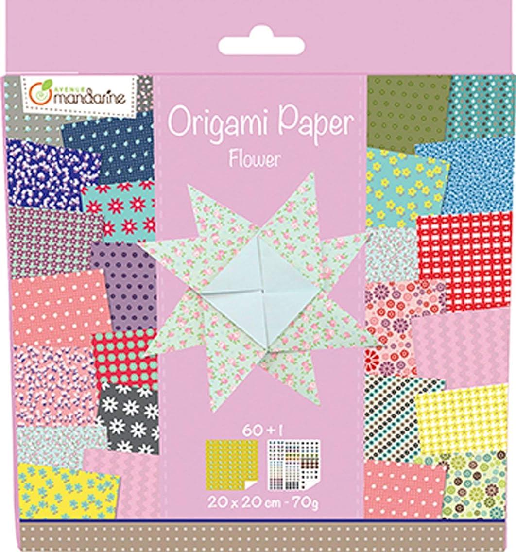 Avenue Mandarine Flowers Origami Paper, Multi-Color