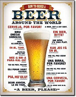 BEER★ビールの注文の仕方(How to Order a Beer)★アメリカンブリキ看板