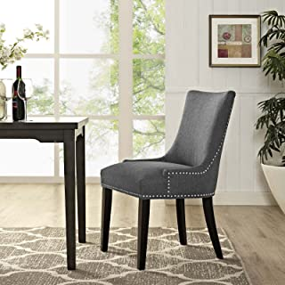 Modway MO-EEI-2229-GRY Marquis Modern Upholstered Fabric with Nailhead Trim, One Chair, Gray
