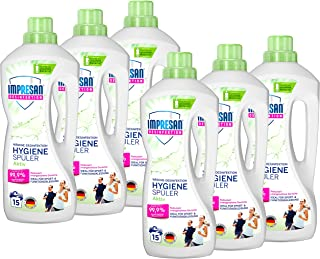 Impresan Hygiene-Spüler Aktiv: Wäsche-Desinfektion für Sportkleidung aus Funktionsfasern oder Synthetics – 6 x 1,25L im praktischen Vorteilspack