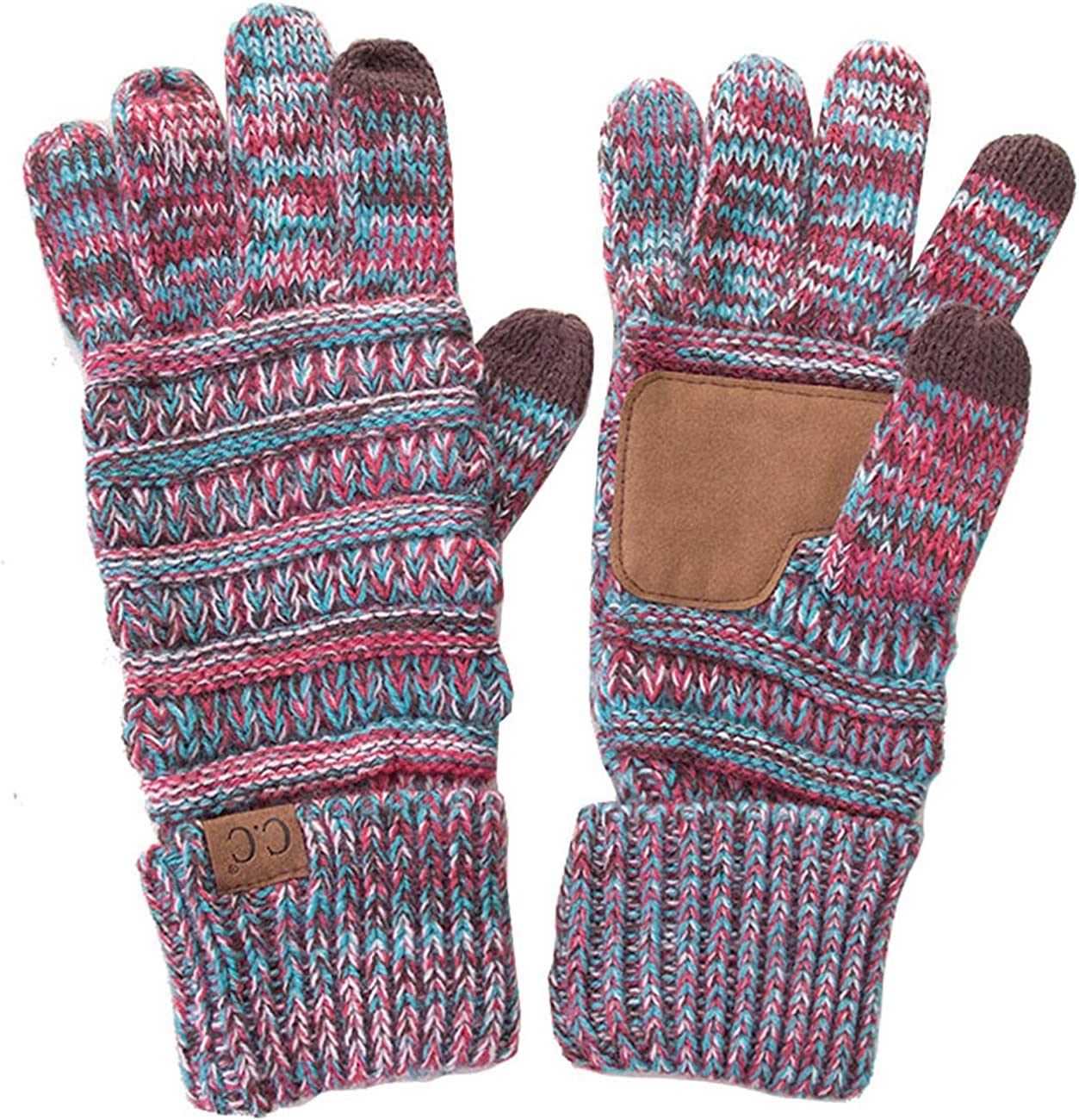 ScarvesMe Four Multi Tone Unisex Smart Touch Screen Texting Soft Knitted Solid Color Gloves