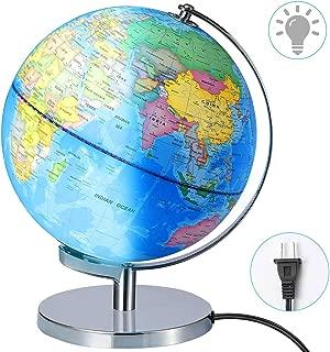 Illuminated World Globe lamp- Larger Size 12