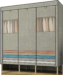 XINYALAMP Armoire Portable Armoire Chambre Toile Placard en Acier renforcé Double Assemblage de vêtements de Stockage casi...