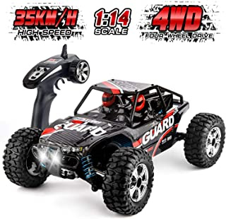 Remote Control Car High Speed RC Car Off-Road Vehicle 1:14 Scale 35km/h 4WD 2.4GHz Racing Car RC Buggy Truck Crawler Toys for 14 15 16 Years Boys Girls Adults by HISTORM