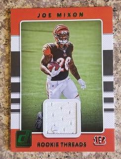 2017 Donruss Football Joe Mixon Bengals RC Rookie Threads Jersey Card Green Parallel #14 Oklahoma
