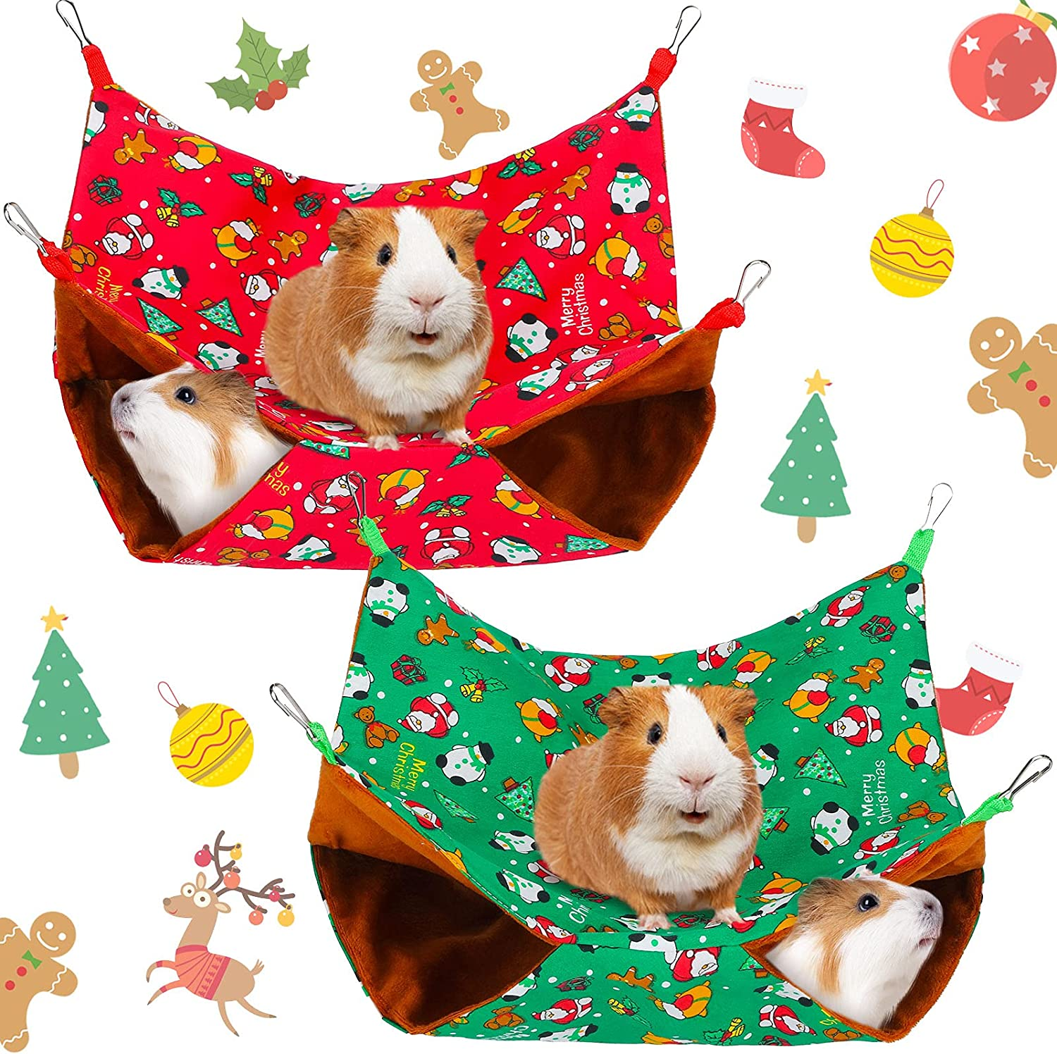 Ranking TOP15 2 Pieces Christmas Guinea Pig Ferret Hammock Hanging OFFicial site Rat