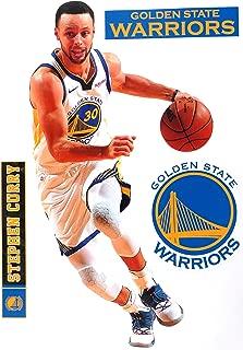 Stephen Curry FATHEAD + Golden State Warriors Logo Set Official NBA Vinyl Wall Graphics 17