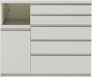 パモウナ 食器棚WG パールホワイト 幅120×高さ101×奥行50 日本製 WGL-1200R下台