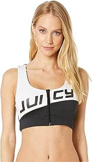 Juicy Couture Women's Juicy Logo Color Block Sports Crop Top
