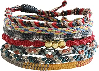 "Wakami The Continents Bracelet, 6.5-7\"" Multi 7 Strand wa9706"