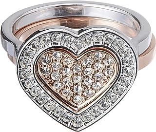 Swarovski Cupidon Rose Gold Crystal Promise Ring - Size S
