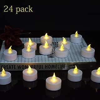 LED Tea Lights, 24-Pack Flameless Tea Lights Battery Powered Warm Yellow Lamp for Halloween Lights,Pumpkin Lights,Anniversary,Garden,Wedding,Party,Décor