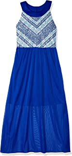 Amy Byer Girls' Big U-Neck Maxi Dress
