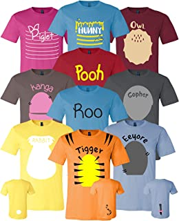 Pooh & Friends Inspired Shirt Adult Unisex Sizes - Halloween Cosplay Costumes For Cruises, Family Trip and Group Event Shirts
