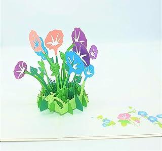 BC Worldwide Ltd carta pop-up 3D fatta a mano gloria di mattina fiore compleanno anniversario festa della mamma grazie, sa...