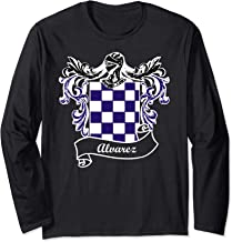 Alvarez Coat of Arms surname last name family crest Long Sleeve T-Shirt