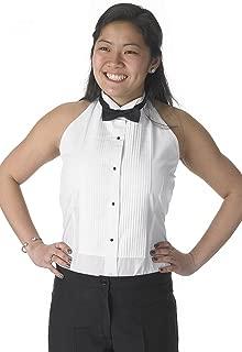 Henry Siegel Women's Tuxedo Shirt Poly/Cotton Halter Top