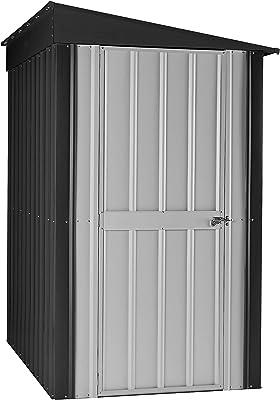 Globel GL4009 Lean-to Storage Shed, 4 x 8 Gray, ...