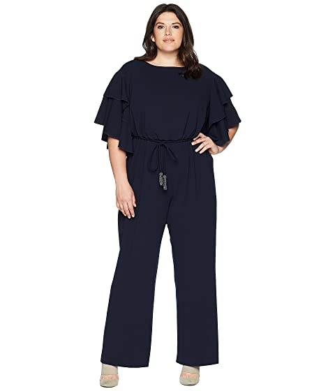 275769f06bc Adrianna Papell Plus Size Blouson Ruffle Sleeve Jumpsuit at 6pm