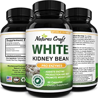 White Kidney Bean Energy Booster - White Kidney Bean Extract Natural Energy Supplement and AMPK Activator Antioxidant Caps...
