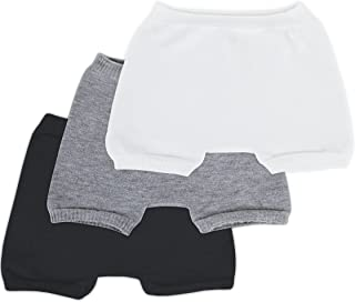 SmartKnitKIDS Boxer Brief Style Seamless Sensitivity Undies 3 Pack (Black, White, Grey, Large)