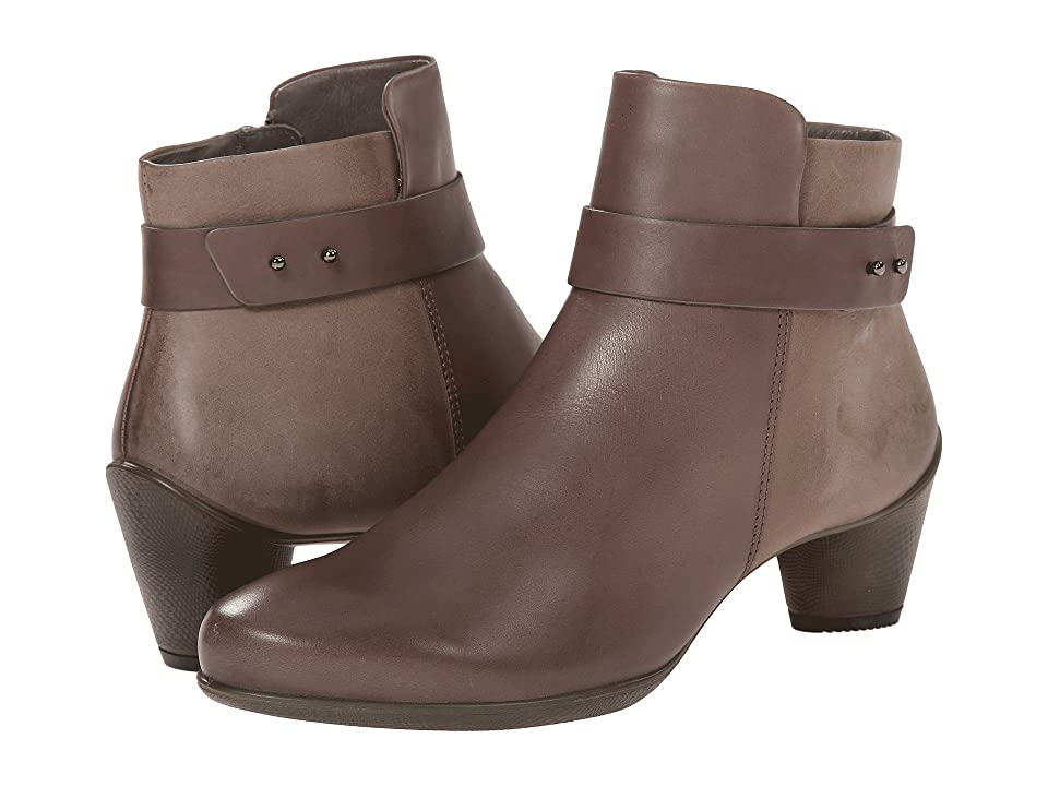 ECCO Sculptured 45 Ankle Boot (Dark Clay/Dark Clay) Women