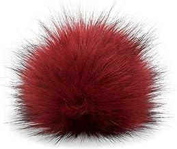 styleBREAKER pompón de Pelo Artificial para Gorros y Beanies, Piel sintética, pompón de Pelo de Invierno 04024161