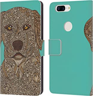 Official Valentina Yellow Lab Dogs Leather Book Wallet Case Cover Compatible for OnePlus 5T