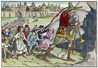Pied Piper Illustration Nthe Pied Piper Leading All Of The Children Out Of Hamelin Illustration By HJ Ford 1890 Poster Pri...