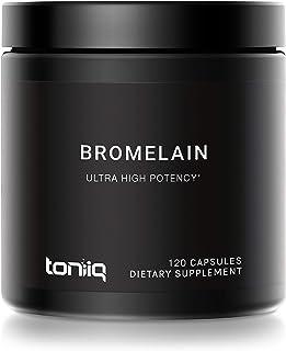 Ultra High Strength Non-GMO Bromelain Capsules - 3600 GDU/Gram - The Strongest Bromelain Available - 500mg Formula - 120 V...